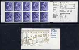 Booklet - Great Britain 1978-79 British Canals #2 (Llangollen Canal) 90p Folded Booklet With Margin At Right (... - Carnets