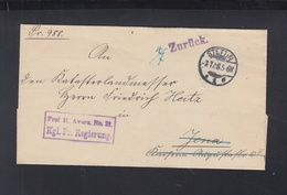 Polen Poland Kgl. Pr. Regierung Stettin 1908 Nach Jena Zurück - Oficial