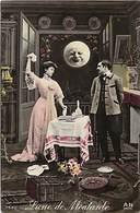 -ref-B81- Astronomie - Lune De Moutarde - Couple - Couples - Surréalisme - Carte Bon Etat - - Astronomy