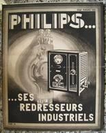 """Dépliant PHILIPS """" Ses Redresseurs Industriels """" Radio - T.S.F. - Tarif - Publicités"""