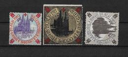 España Lote De 3 Viñetas Conmemorando El VII Centenario De La Catedral De Burgos 1921 - España