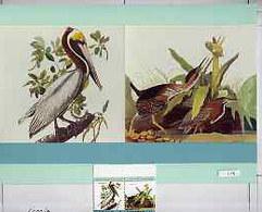 St Vincent 1985 Pelican & Heron (John Audubon 15c) Original Artwork Comprising The Main Design As Overlay Onto... - St.Vincent (1979-...)