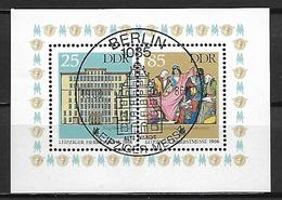 ALLEMAGNE  /  DDR    -     1986  .  Y&T N° 2659 / 2660 Oblitérés En Feuillet.   Foire De Leipzig - Used Stamps