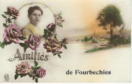 Amitiés De FOURBECHIES - Cachet De La Poste 1924 - Froidchapelle