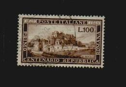 Italien 1949 Michel Nr. 773 Gestempeltes Prachtstück (Michel € 130,-) 100 L. Repubblica Romana - 6. 1946-.. Republik