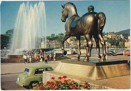 Luzern: HILLMAN MINX PHASE 4 '50 - Wagenbachbrunnen - Fontaine - (Suisse/Schweiz) - 1960 - Toerisme