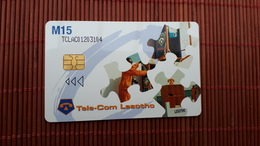 Phonecard Lesotho Stick To One Partner, AIDS Kills Used Rare - Lesotho