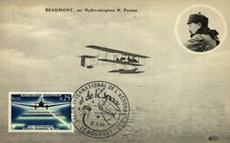 BEAUMONT, SUR HYDRO-AEROPLAN H. FARMAN - Aviones