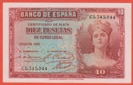ESPAGNE - 10 Pesetas De 1935 - Pick 86 - SPL - [ 2] 1931-1936 : Repubblica