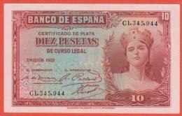 ESPAGNE - 10 Pesetas De 1935 - Pick 86 - SPL - 10 Pesetas