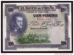 ESPAGNE - 100 Pesetas  Du 01 07 1925 - Pick 69c - UNC - [ 1] …-1931 : Prime Banconote (Banco De España)