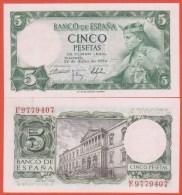 ESPAGNE - 5 Pesetas Du 22 Juillet 1954 - Pick 146 - NEUF - [ 3] 1936-1975 : Régence De Franco