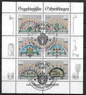 ALLEMAGNE  /  DDR    -     1986  .  Y&T N° 2677 à 2682 Oblitérés En Feuillet.   Chandeliers / Forgerons Des Mines - Used Stamps