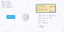 APOST SYSTEM - Lettre Pour SANTENA ITALIE - PRAHA 14/10/04 - Cover - Lettres & Documents