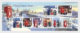 Groot-Brittannië / Great Britain - Postfris / MNH - Sheet Kerstmis 2018 - Ongebruikt