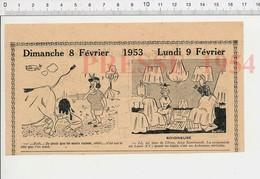 2 Scans 1954 Humour Tapis Aubusson Véritable Camping Traite Des Vaches Dans Le Champ Lait 223XL - Old Paper