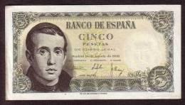 ESPAGNE - 5 Pesetas Du 16 08 1951 NEUF - Pick 140 - [ 3] 1936-1975 : Régence De Franco