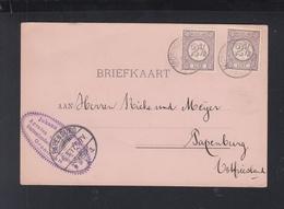 Niederlande PK 1897 Groningen Nach Ostfriesland - Periode 1891-1948 (Wilhelmina)