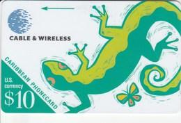 Caribbean Islands - Lizard - 208BCAA - Schede Telefoniche