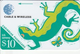 Caribbean Islands - Lizard - 208BCAA - Telefoonkaarten