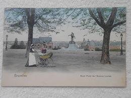 Cpa Bruxelles Rond Point Avenue Louise Colorisée 1907 - Avenues, Boulevards