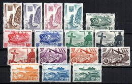 Sellos  Nº 325/40 Saint Pierre Et Miquelon - Nuevos