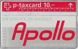 SWITZERLAND - PHONE CARD - °TAXCARD SUISSE  ***  GARAGE APOLLO - CRISSIER  *** - Svizzera