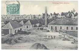 Cpa Jamaïque / Greeting From Jamaica - Landway Sugar &  Rum Estate, St Anns ( Sucre, Rhum, Usine ) - Jamaïque