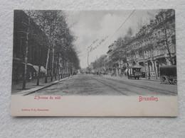 Cpa Bruxelles Tram Avenue Midi - Avenues, Boulevards