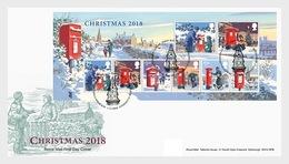 Groot-Brittannië / Great Britain - Postfris / MNH - FDC Sheet Kerstmis 2018 - Ongebruikt