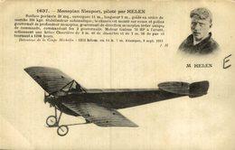 M. HELEN, MONOPLAN NIEUPORT - Aviones