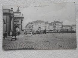 Cpa Bruxelles Place Constitution 1907 - Places, Squares