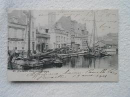 Cpa Bruxelles Quai Aux Briques 1904 - Transport (sea) - Harbour