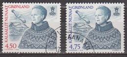 Reine Margrethe II - GROENLAND - Mont Sermitsiaq, Oiseau Marin - N° 334-335 - 2000 - Groenland