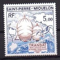 Sello Nº 477  Saint Pierre Et Miquelon - Barcos