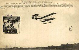 DE KINET, SUR BIPLAN H. FARMAN - Aviones