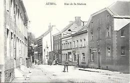 CPA / PK / AK  -  AUBEL  Rue De La Station  ( Animation , Boucherie , ... ) - Aubel