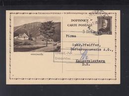 Czechoslovakia Stationery 1930 Krkonose - Czechoslovakia