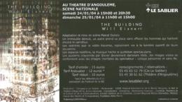 BD - Flyer - Spectacle The Building Will Eisner - Théâtre D'Angoulême 24 & 25 Janvier 2004 - Mise En Scène Pascal Dubois - Livres, BD, Revues