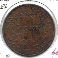 *argentina Buenos Aires 2 Reales 1855  Km 9 Xf !!! - Argentine