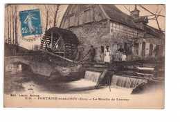 27 Fontaine Sous Jouy Le Moulin De Launay Cpa Carte Animée - Frankrijk