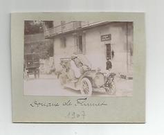Photographie 73 Savoie Douane De Flumet Bureau Des Douanes Françaises 1907 Photo Collée Sur Carton 5,5x8,3 Cm Env - Cars