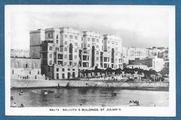 MALTA BALLUTA'S BUILDINGS ST. JULIAN'S 19?? - Malta