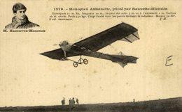 M. HAUVETTE-MICHELIN, MONOPLAN ANTOINETTE - Aviones