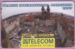Télécarte Tchéquie °° Marathon International Prague 1997 -gem- 50j - 150 Kc - 1997.04. - Tchéquie