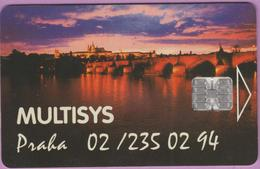 Télécarte Tchéquie °° Multisys Prague -Sc7- 150j - Non Datée. - Tchéquie