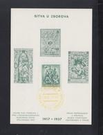 Tschechoslowakei Sonderblatt 1937 Bitva U Zborova(2) - Czechoslovakia
