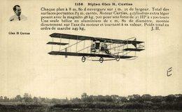 GLEN H CURTISS, BIPLANN GLEN H. CURTISS - Aviones