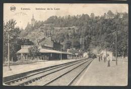 +++ CPA - ESNEUX - Intérieur De La Gare - Train - Cachet Taxe  // - Esneux