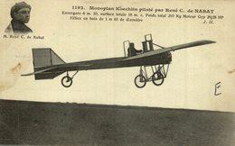 M. RENÉ C. DE NABAT, MONOPLAN KOECHLIN - Aviones